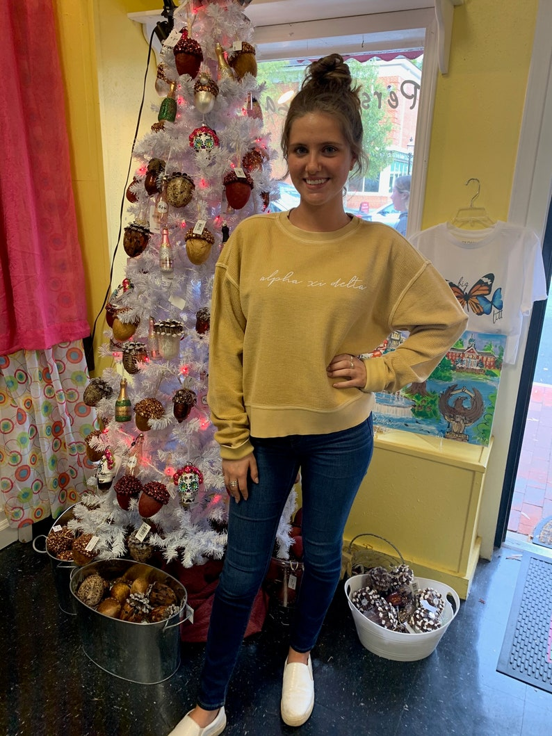 ORDER BY 1217 for Christmas Delivery Simple Script Sorority Corded Crew
