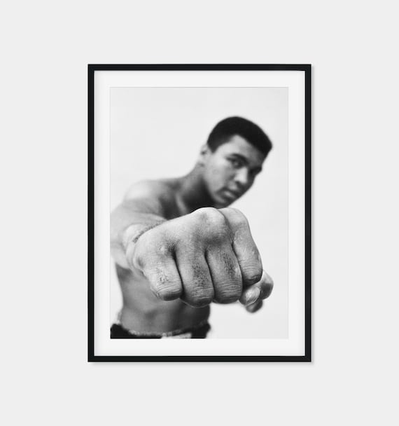 MUHAMMAD ALI CASSIUS CLAY VINTAGE POSTER PRINT LOOKS AWESOME FRAMED