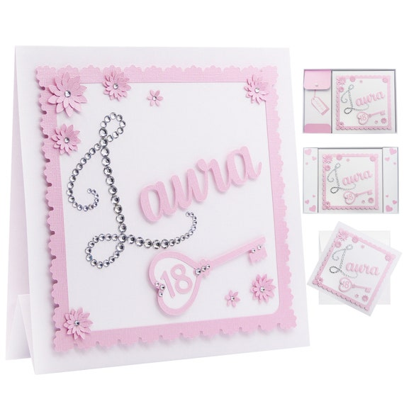 18th Birthday Card For Her Personalised Diamante