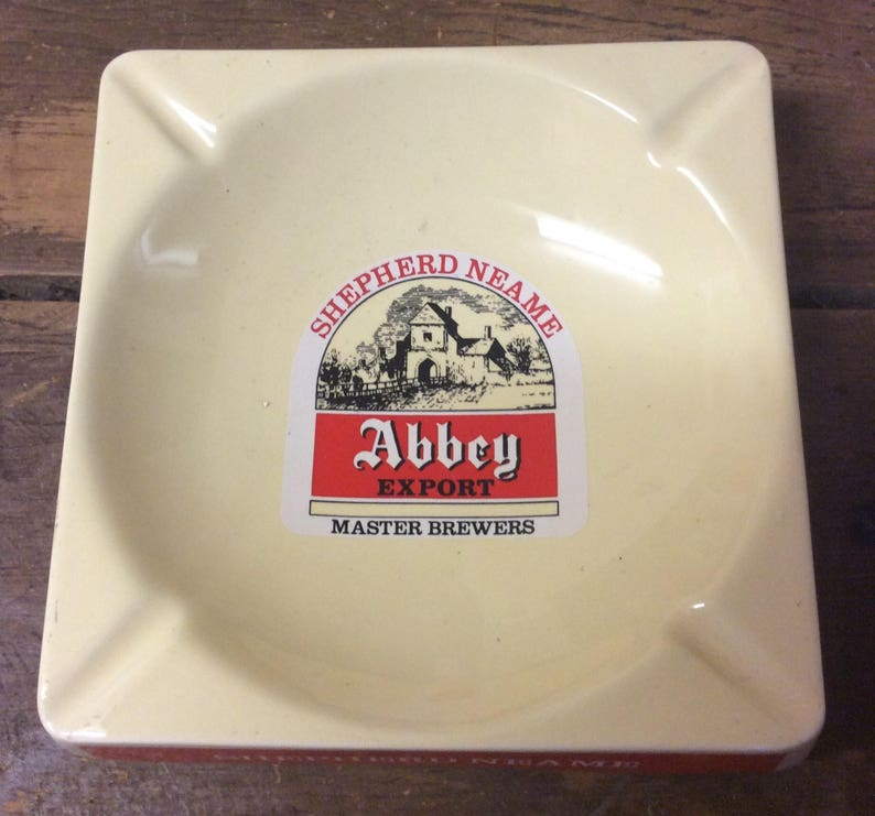 Shepherd Neame Master Brewers Home Bar Decor Man Cave Dish Nice Vintage Abbey Export Beer Ceramic Pub Advertising Ashtray by Wade Pdm