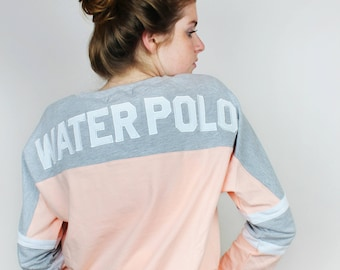Water Polo Appliqué Lace Up Jersey - Pink