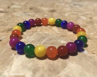LGBT Pride Rainbow Bead Bracelet