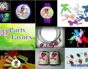 Tiana Frog  - 40 Party Favors Combo-Toys Birthday Prizes Pinata Filler Princess