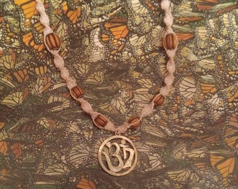 Ohm symbol hemp necklace