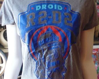 vtg T-shirt Star Wars R2D2 vgc size S
