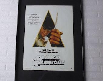1971 Kubrick Orange Mécanique original movie poster