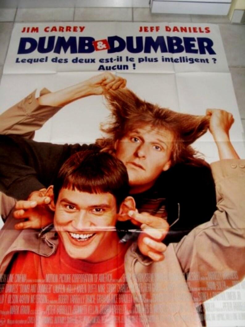 Dumb et Dumber jim carrey original movie poster 160X120cm