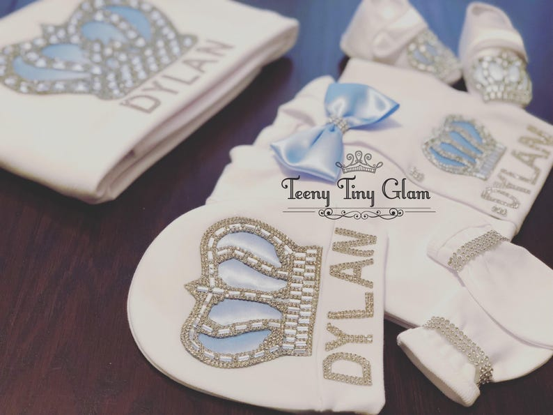 Personalized Take Home Outfit Baby Boy Coming Home Outfit Baby Boy Coming home outfit Crown Jewels