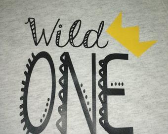 Wild One First Birthday shirt