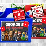 ROBLOX Party Box, Candy bag. Personalised for Favors, Treats, Goodies, Sweets, Gift. Roblox game themed birthday. Price per box