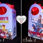 6x Personalised The Avengers Party Bag Box Favor Treat Goodie sweets Gift Spiderman Ironman Hulk Themed Birthday Party Supplies Infinity War