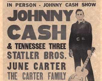 Johnny Cash Show & Tennessee Three  > Statler Brothers > June Carter > Man In Black > Poster/Print Replica