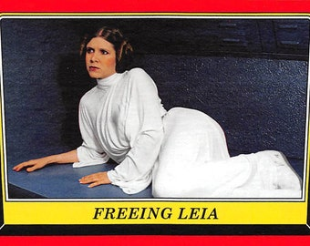 2016 Star Wars Rogue One Mission Briefing Trading Card #39 Freeing Leia > Carrie Fisher > Princess Leia