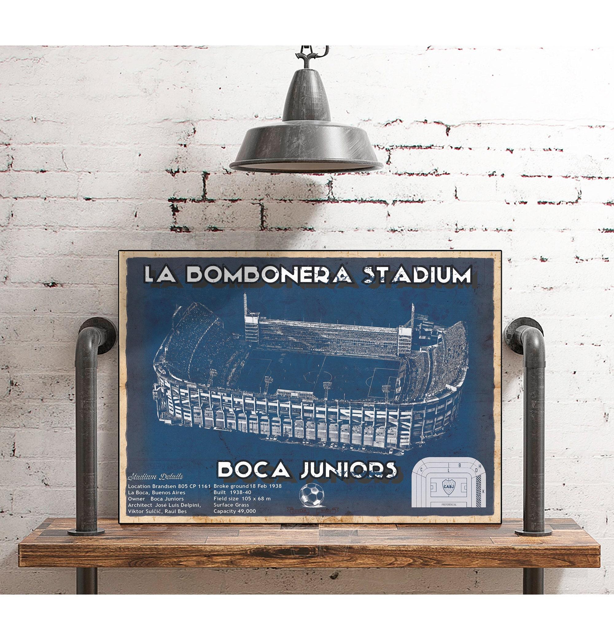 Poster Print D\u00e9cor for Home /& Office Decoration La Bombonera Boca Junior Stadium Canvas Wall Art Design POSTER or CANVAS READY to Hang.
