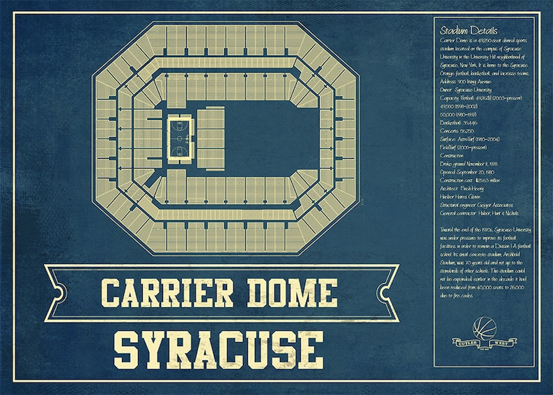 Syracuse Orange - Carrier Dome Seating Chart - College Basketball Blueprint on sanford stadium seating map, carrier dome seat location, u.s. cellular field seating map, chene park seating map, hilton coliseum seating map, xfinity center seating map, mackay stadium seating map, carrier dome tailgating, carrier dome events, carrier dome staff, gampel pavilion seating map, fedex forum seating map, joyce center seating map, us bank arena seating map, cameron indoor seating map, alumni hall seating map, hinkle fieldhouse seating map, valley view casino center seating map, carrier dome information, ryan field seating map,
