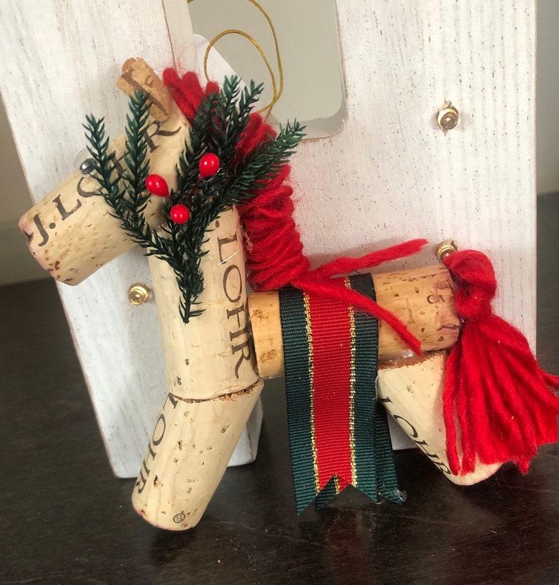 Wine Cork Horse Ornament image 0