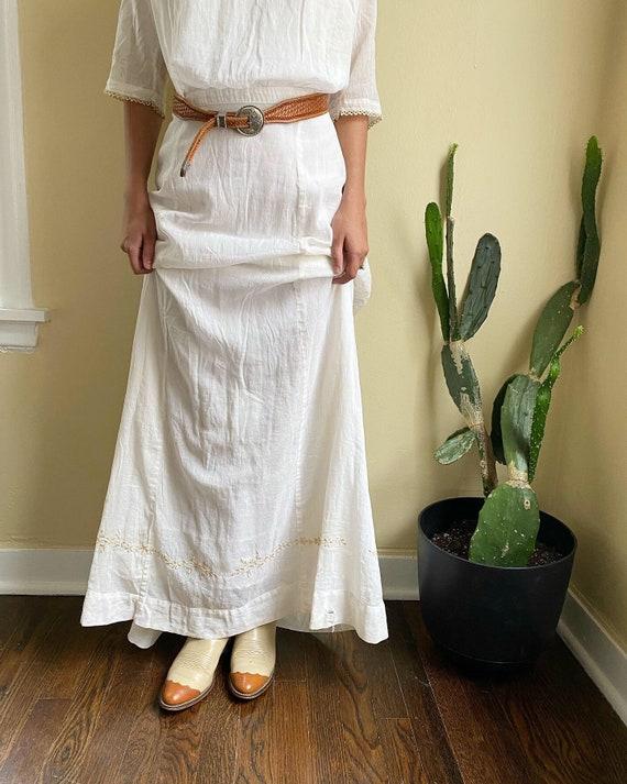 Vintage Wedding Dress 1920's Cotton