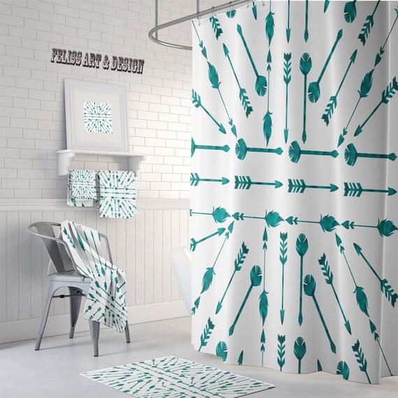 Arrow Bathroom Decor Tribal Shower Curtain