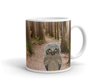 Owl Mug, Country Mug, Owl Decor, Kitchen Decor, Owl Coffee Cup, Owl Cup, Art Mug, Coffee Cup, Owl Cup, Rustic Kitchen, Mugs, Owls, Animal