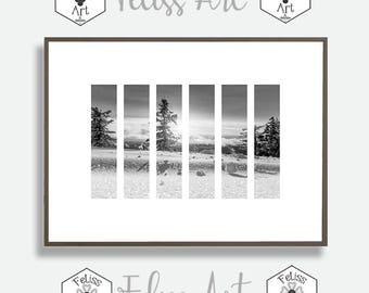 Landscape Print, Forest Prints, Nordic Style Print, Nature Wall Art, Wilderness Poster, Mountain Photo, Printable Wall Decor, geometric Art