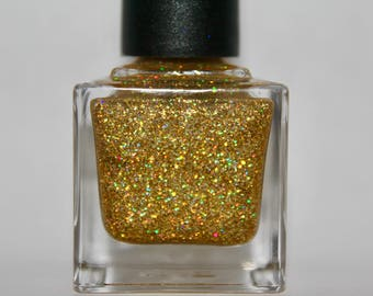 "Gold Holo Nail Polish ""Gold Miner"""