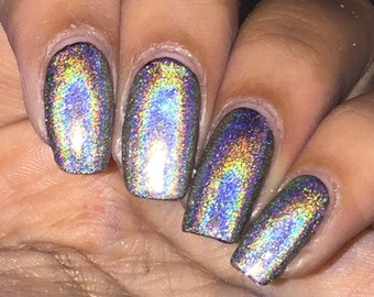 """Silver Holo Nail Polish """"Tiara Diamonds"""""""