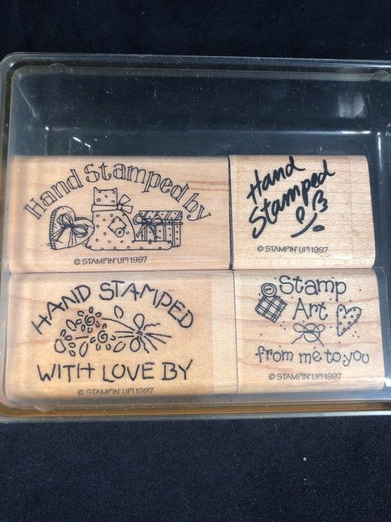 Cottage Stamper wood back rubber stamp change of address cards My New Address...Phone