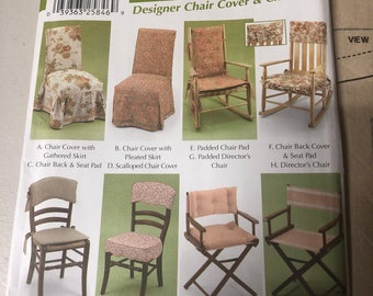 Simplicity Home Decorating #5952 Easy Chair Cover Pattern Uncut