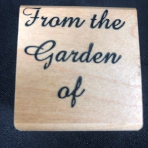 Lake-O wood back rubber stamp design for gifts produce sales From the Garden of