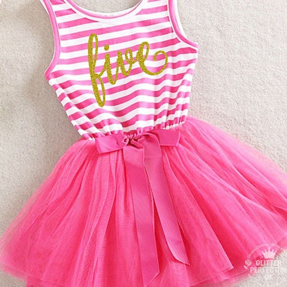 Fifth Birthday Outfit 5th Birthday Dress Hot Pink Tutu For