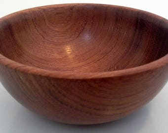 Hand Made Wood Bowl In Bubinga, Finger Bowl, Ring Bowl