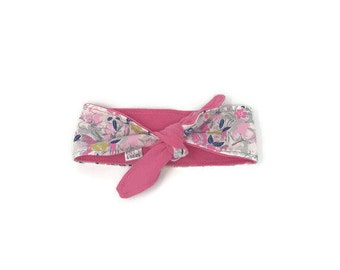 Adjustable reversible headband Mille-fleurs