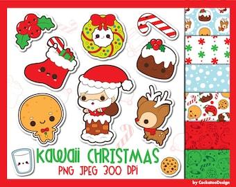 Kawaii Christmas.Kawaii Christmas Etsy