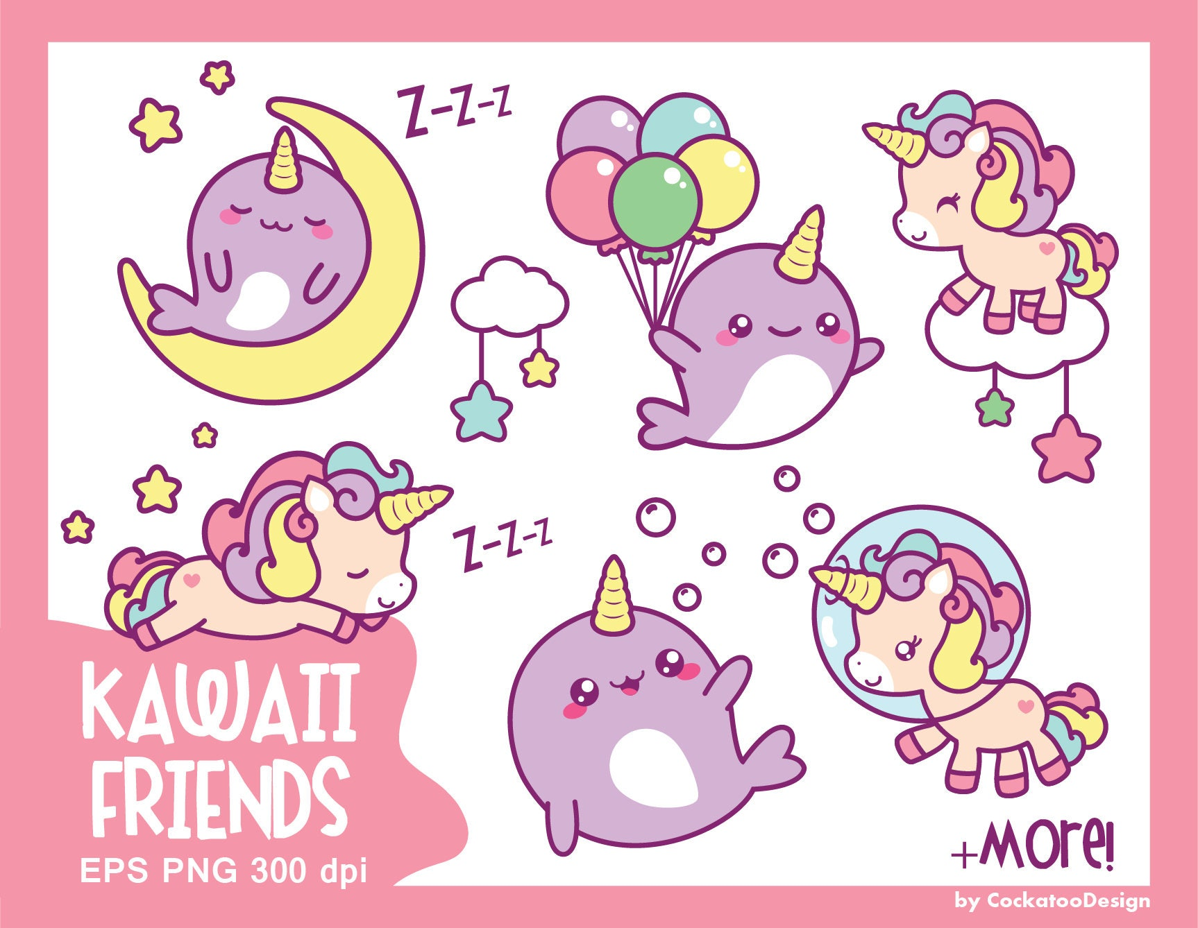 Unicorn clipart cute unicorn clipart kawaii unicorn clip ...