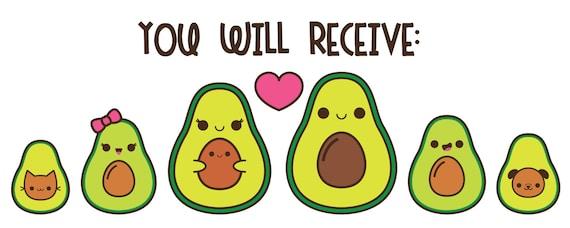 Avocado clipart kawaii avocado clip art cute avocado clip ...