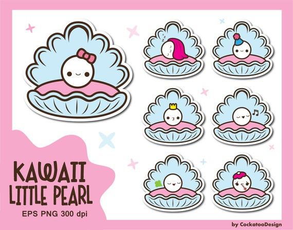 Clam with Pearl SVG Cut File & Clipart