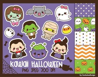 50% OFF, Halloween clipart, kawaii halloween clip art, kawaii halloween clipart, kawaii bat clipart, ghost clipart, halloween digital papers