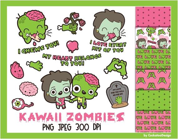 Zombie Clipart Kawaii Zombie Clipart Cute Zombie Clipart