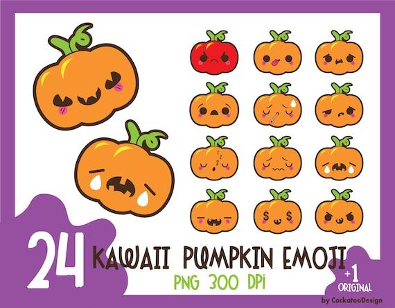 Kawaii Citrouille Clipart Clipart Citrouille Halloween Emoji Clipart Clipart Citrouille Kawaii Halloween Clipart Usage Commercial