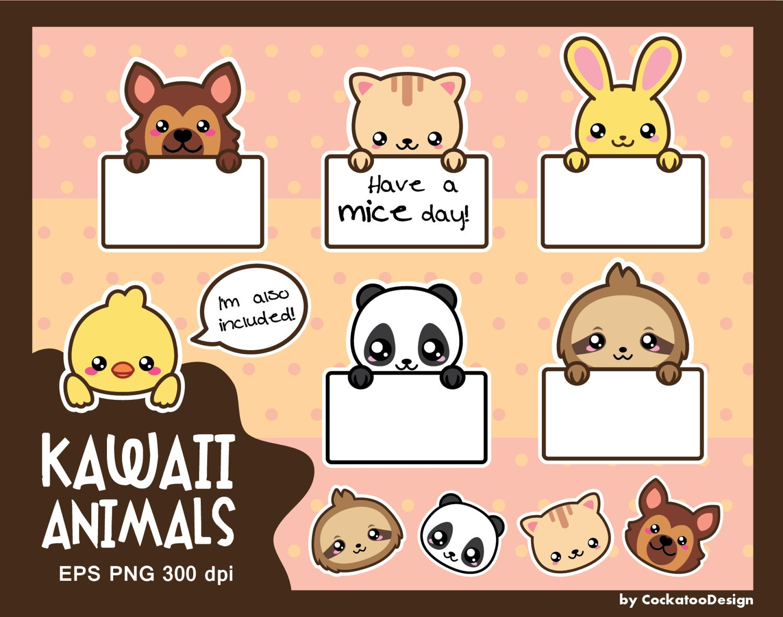 Kawaii animals clipart cute animals clipart kawaii clipart ...