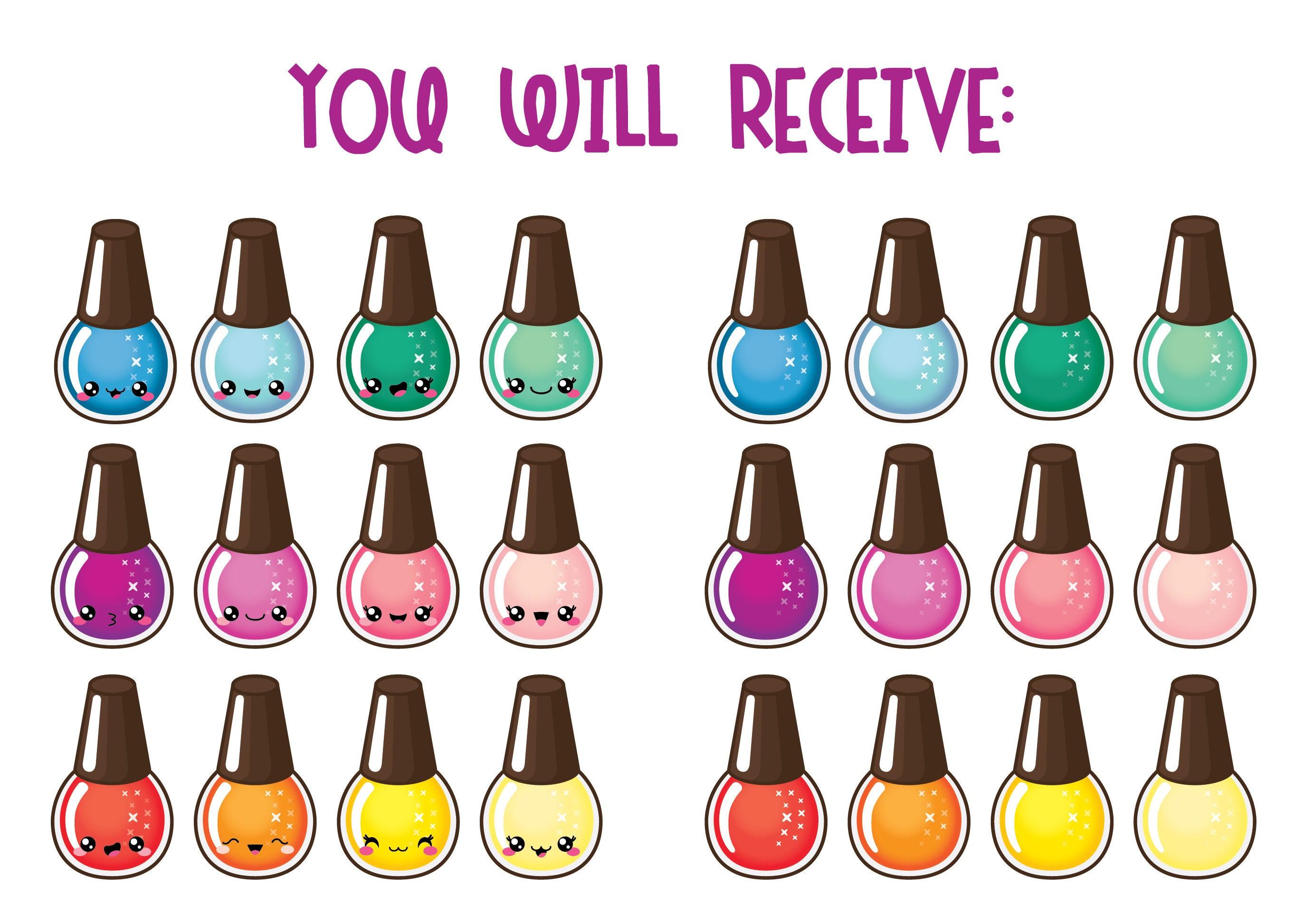 35% OFF, Kawaii nail polish clipart, nail polish clip art, manicure ...