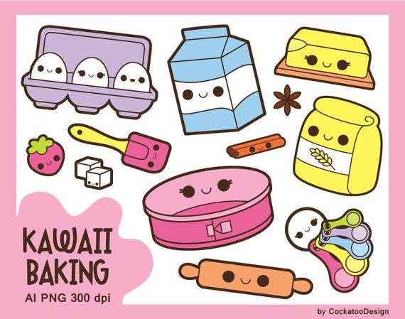 Kawaii baking clipart kawaii cooking clipart kawaii groceries clip art kawaii food clipart - Kawaii kochen ...