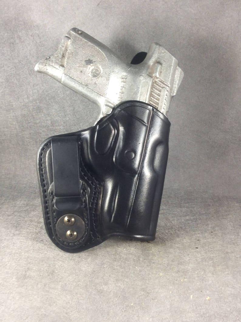 Ruger SR9C IWB Concealed Leather Holster with Sweat Shield