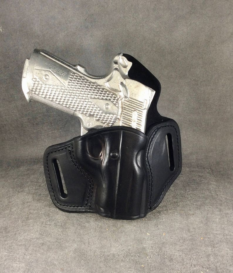 Sig Sauer Ultra Compact 1911 OWB Pancake (TSP) Leather Holster 3