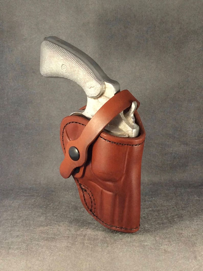 """Ruger GP100 OWB 2.5/"""" Two Position Leather Holster by ETW Holsters"""