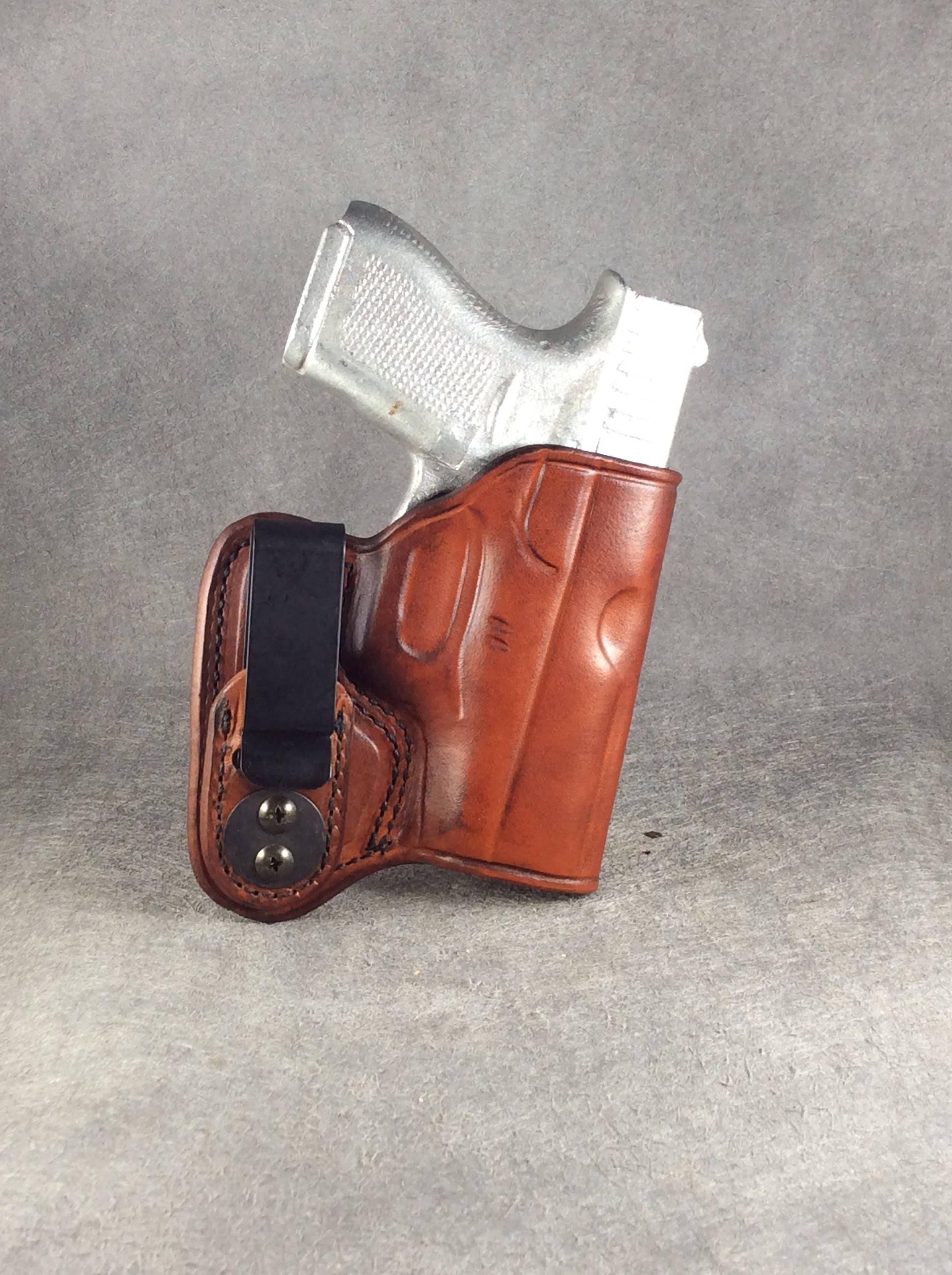 Glock 42 Concealed IWB Leather Gun Holster