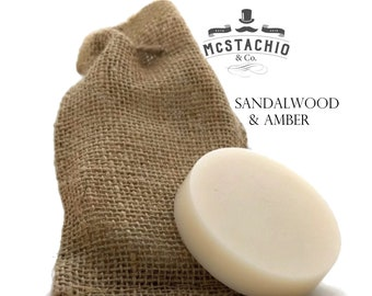 Sandalwood and Amber Shave, Shower and Shampoo Soap