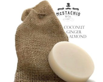 Coconut Ginger Almond Shave, Shower and Shampoo Soap
