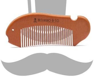 Peach Wood Beard Comb