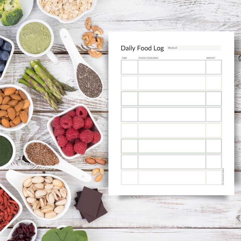 Weekly Meal Planner and Daily Food Log // Home Management image 0